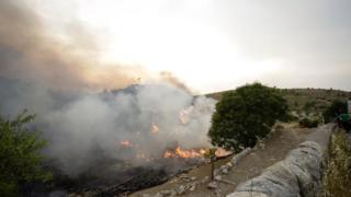 Incendio in Sicilia