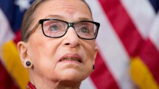 in_pictures US Supreme Court Justice Ruth Bader Ginsburg participates in an annual Women's History Month reception hosted by Pelosi in Washington DC, in 2015