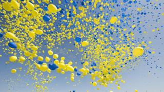 Повітряні кульки у Стокгольмі