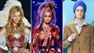 Nadine Leopold, Gigi Hadid and a male model