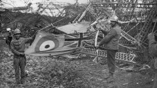 Wreckage of the R101