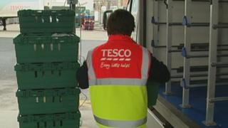 Tesco delivery worker