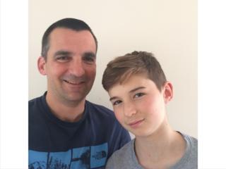 Nick Herbert y su hijo Ben
