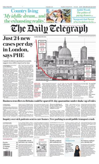 Newspaper headlines: 'Game changer' test and 19m 'may have had virus' thumbnail