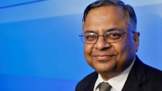Tata Sons chairman-designate Natarajan Chandrasekaran poses after a news conference in Mumbai, India January 12, 2017