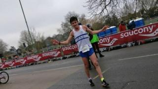 Jack Gray at Cambridge half marathon
