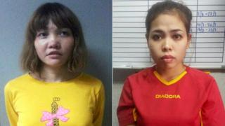 Vietnamese Doan Thi Huong (L) and Indonesian Siti Aishah are seen in this combination picture