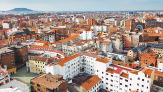 Aerial view of Valladolid downtown