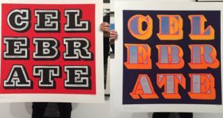 Ben Eine signs for the Big Issue celebration