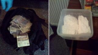 Police seizures of cash and drugs