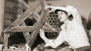 Monir in her studio, 1975