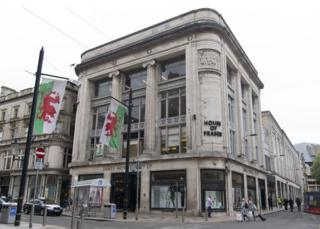 The House of Fraser Howells store has had a presence in Cardiff since the 1860s