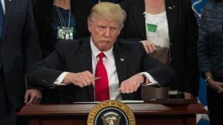 Trump reseals his pen