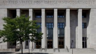 UNITED STATES - JULY 29: Exterior view of Federal Building and U.S. Courthouse, Binghamton, New York (Photo by Carol M. Highsmith/Buyenlarge/Getty Images)