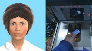 Digitised face/ self-service checkout