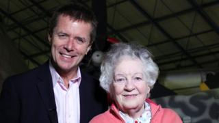 Nicky Campbell and his mother Sheila