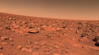 Foto de Marte enviada por la sonda Viking II
