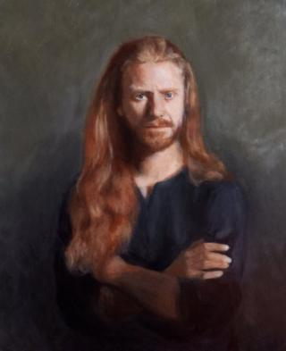 A portrait of Niccolo, a life model and artist based in Florence