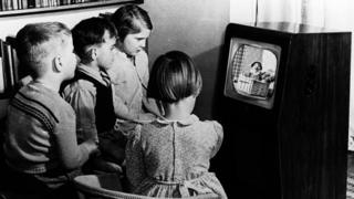 The children watched Andy Pandy in 1950