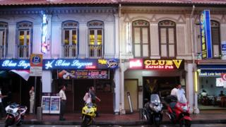 Một khu phố đèn đỏ ở Singapore