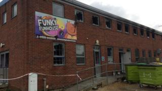 Funky Funhouse after fire on Friday