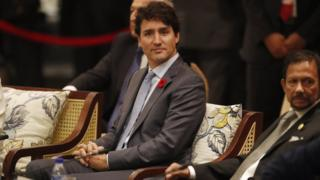 Canada's Prime Minister Justin Trudeau at the Asia-Pacific Economic Cooperation summit