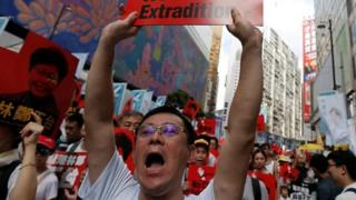 متظاهرون في هونغ كونغ