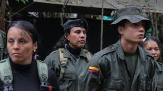Guerrilleros de las FARC en la X Conferencia