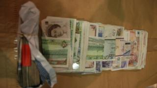 The money was discovered during a search of a van on Thursday