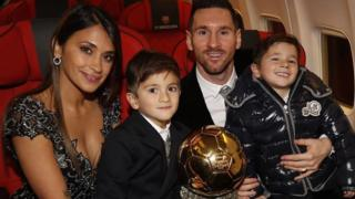 Lionel Messi and im family