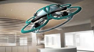 Ilustración del modelo del dron T-Frend.