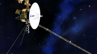 Artist's impression of the Voyager probe in space