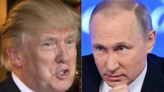 ABD'nin 45. Başkanı seçilen Donald Trump ve Rusya Devlet Başkanı Vladimir Putin