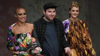 Richard Quinn walks his runway show