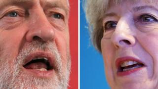 İşçi Partisi Lideri Jeremy Corbyn (solda), İngiltere Başbakanı Theresa May