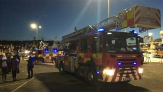 emergency agencies are attending the incident in Howth