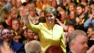 Nicola Sturgeon at conference