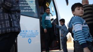 Humus'tan tahliye edilenler