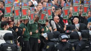 Far-right protesters, 27 Aug 18