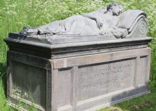 Gothic tomb film prop