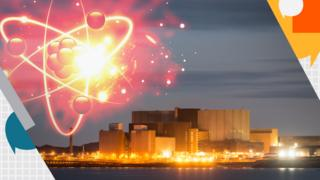 Wylfa and nuclear atoms graphic