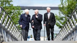 From left, Bernard Roberts, Edwin Leadbetter and James Docherty