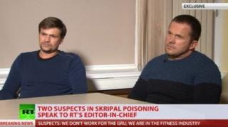 الکساندر پتروف و روسلان بوشیرف در تلویزیون آر تی
