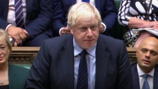 Boris Johnson na Câmara dos Comuns