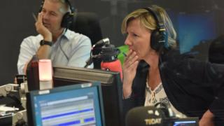 Sarah Montague in the studio