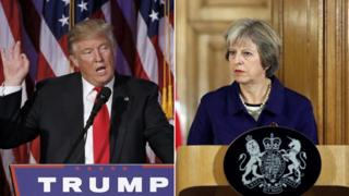 Donald Trump and Theresa May (composite image)