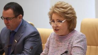 Валентина Матвиенко на пленарном заседании Совета Федерации