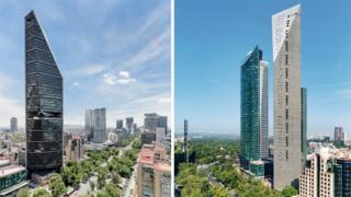Las dos vistas de la Torre Reforma