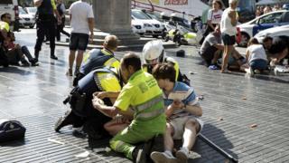 пострадавшие в Барселоне
