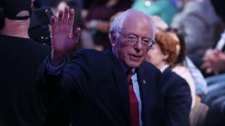 Bernie Sanders campaigns in Las Vegas